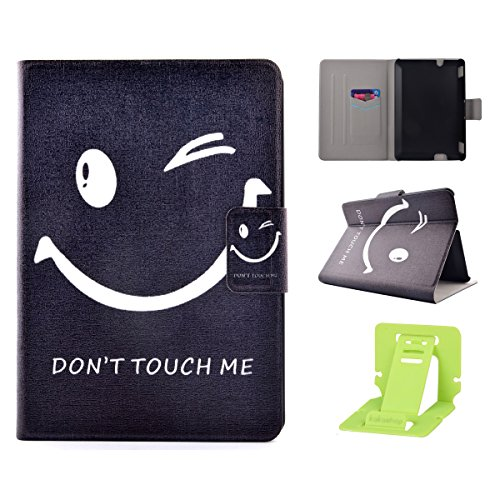 Ekakashop Amazon Kindle Fire HDX 7,0 Ledertasche, Amazon Kindle Fire HDX 7,0 Lederhülle Smart Case im Bookstyle, PU Leather Schutzhülle Handytasche Schutzfolie Flip Case Cover für Amazon Kindle Fire HDX 7,0, Fashion Don't Touch me Lächeln Muster Backcover Brieftasche mit Standfunktion und Kartenschlitz für Amazon Kindle Fire HDX 7,0 Zoll + 1x Kostenlos Ständer (Farbe zufällig) (Web-design-paket Kostenlose)