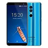 UMIDIGI A1 Pro, Android 8,1 Oreo Smartphone ohne Vertrag Dual Sim 4G 5,5 Zoll 18:9 Full Screen Display, Triple Kameras(13MP+5M Hauptkameras / 5MP Frontkamera)3GB RAM + 16GB ROM 256GB erweiterbar 1.5GHz Quad Core, Face ID & Finger ID Unlock, 3150mAh Akku Quick-Charging -Blau