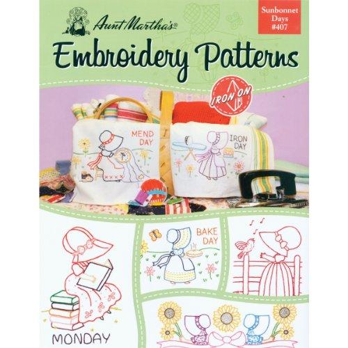 Tante Martha 's Sunbonnet Tagen Stickerei Transfer Muster Buch Kit (Transfers Marthas Stickerei Tante)