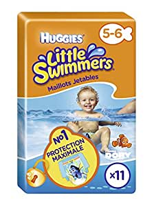 Huggies Little Swimmers Standard Taille 5/6 (12-18 kg) x 11 Culottes Lot de 2