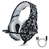ONIKUMA Casque Gaming - Casque Gamer pour PS4 Xbox One Nintendo Switch PC, ONIKUMA K1 Stéréo Bass Surround PC Gaming Headset pour PS4 Nouvelle Xbox One avec Micro