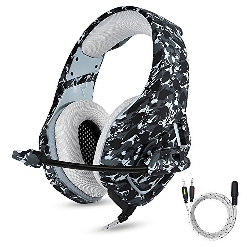Ocamo onikuma K1Stereo Bass Surround PC Gaming Headset für PS4Neue Xbox One mit Mikrofon Schwarz/Camouflage Msi-bluetooth-adapter