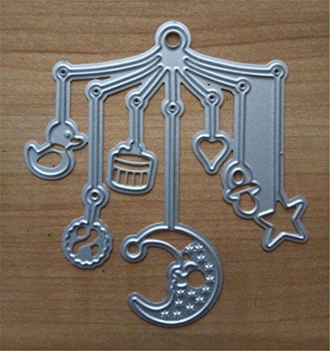 HMORun Schneideisen DIY Scrapbook Metall Schablone geprägt Kohlenstoffstahl Cutter sterben Vorlage Dekorative Papierschnittkarte Bett Glocke (Schablone Digitale Cutter)