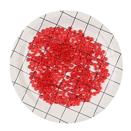 TianranRT Handgemacht Farbe Fisch Tank Fishbowl Perlen Bunte Perlen für Crunchy Selbstgemacht Schleim DIY Kunsthandwerk Party RD (Rot) -