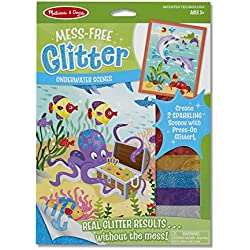 Melissa & Doug Mess Free Glitter - Underwater Scenes, Multi Color