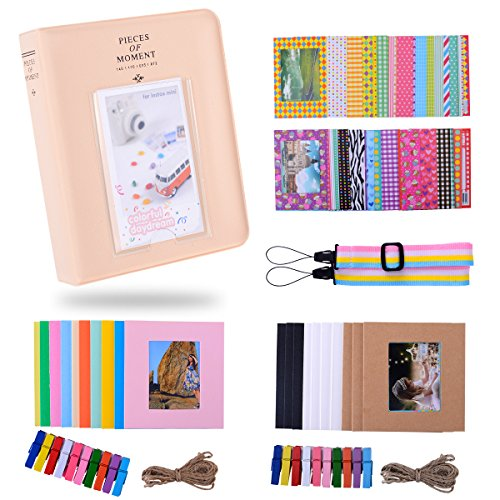 Kaka Film Frames Bundles Set para HP Sprocket Portable Photo Printer/Polaroid Zip Mobile Printer/Polaroid Snap Instantánea Cámara Digital con álbum/Marcos/Colgantes de Marcos/Sticker - Blanco