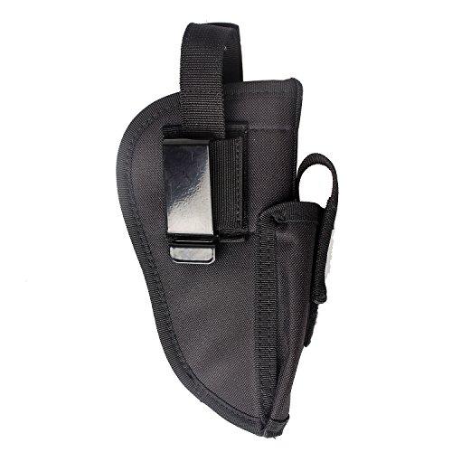 GUN Holster Pistole Tactical Glock 1719212327404243.380SIG P3201911Ruger 9mm Taurus Beretta Compact M & P Shield Gürtel Military Carry Universal links rechts austauschbar mit Magazintasche, schwarz