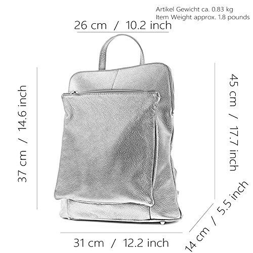Zaino In Pelle Donna Zaino 3in1 Borsa City Bag T141 Claret Rosso