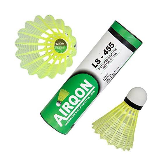 LS-455 Airqon Badminton Nylon shuttlecocks (Pack of Six).