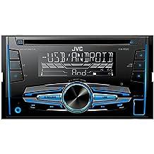 JVC KW-R520E - Radio CD para coche (USB/AUX, MP3, 50 W x 4), color negro