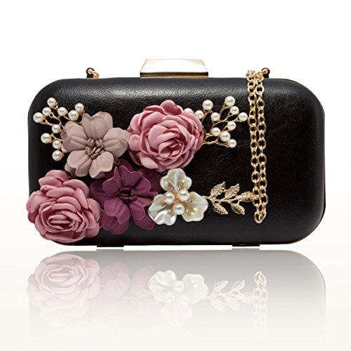 Frauen Für Clutch-taschen (J&F Damen Tasche Handtasche Party Clutch Bag Hochzeit Abend Kettentasche Umhängetaschen)