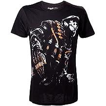 DC Comics Batman Arkham Caballero Negro Pesadilla Espantapájaros Pequeño Camiseta, Negro