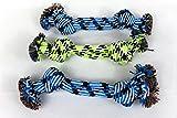 PeSoBo Knotenseil 29 cm x 3 Stück Hundespielzeug Zerrseil Spieltau