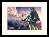 1art1 103625 The Legend of Zelda - Breath of The Wild, Hyrule Landschaft Gerahmtes Poster Für Fans und Sammler 40 x 30 cm