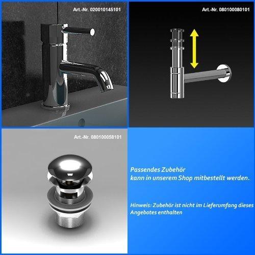Badezimmer Möbel / Waschbecken / Doppelwaschtisch / Badmöbel / Unterschrank / Waschplatzlösung / Modell Garda-1440 / Farbe: Braun / Waschtisch - 7