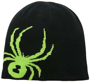 Spyder Men's Reversible Innsbruck Hat, Black/Mantis Green, One Size