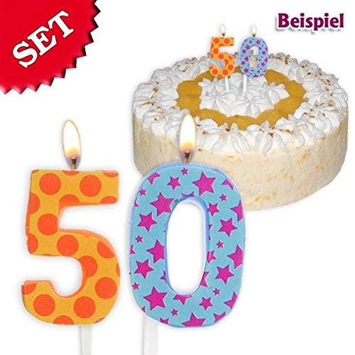 Geburtstagskerzen Zahl 50, 2,5cm