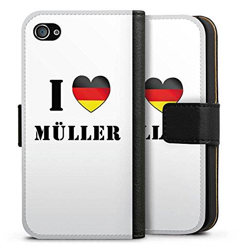 Apple iPhone X Silikon Hülle Case Schutzhülle Thomas Müller Fußball Sport Sideflip Tasche schwarz