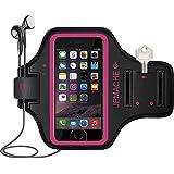 iPhone 7 Brazalete, JEMACHE Apple Touch ID Apoyo Running Ejercicio Gimnasio Bandas Para el Brazo para iPhone 6/6S/7 (Rosy)