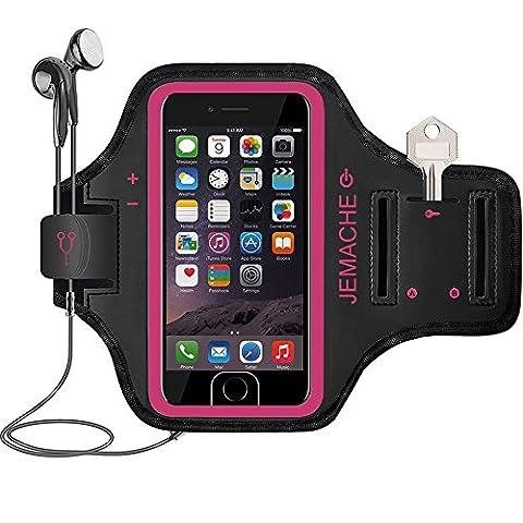 iPhone 7 Plus Brassard, Jemache Sports Course à Pied d'exercice Gym Arm Band Coque pour iPhone iPhone 6/6S/7 Plus avec entailles pour carte ID Touch, poches et principales logement,