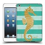 Offizielle Paul Brent Gold Seahorse Küsten Soft Gel Hülle für iPad Mini 1 / Mini 2 / Mini 3
