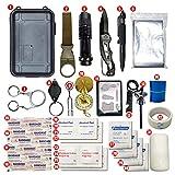 Kits de equipos de supervivencia 32 en 1 Herramienta de supervivencia para emergencias al aire libre SOS + Botiquín de primeros auxilios para el desierto / Viaje / Automóviles / Senderismo / Equipo