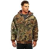 Trail Crest Herren Camo Zip Full Zip Up Hooded Sweatshirt Jagd Jacke, Herren, camouflage