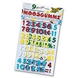 folia 23797 Moosgummi Glitter-Sticker, Zahlen