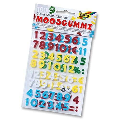 i Glitter-Sticker, Zahlen (Glitter-zahlen)