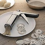 #5: Kitchen Khajana™ Stainless Steel 15 in 1 Kitchen Press Grater Cookies/Indian Snakes/Murukku Maker/Farsan Sev Maker with Stailess Steel Jalis