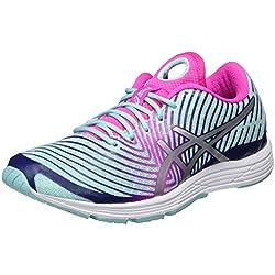 Asics Gel-Hyper Tri 3, Zapatillas de Running para Mujer, Varios Colores (Aqua Splash / Silver / Indigo Blue), 37.5 EU