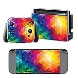 Nintendo Switch skin , Stillshine Qualitäts-Ganzkörper -Abdeckung Kühle Version Abziehbild-Aufkleber-Vinylhaut für Nintendo Switch + 4PCS Thumb Grip (Stil 7)