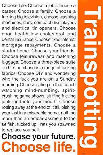 Yutirerly Trainspotting Poster 42.75x30.75 -