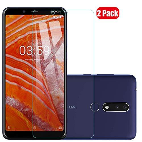Voviqi Nokia 3.1 Plus Panzerglas, 9H verbesserte gehärtetes Glas Folie [Blasenfrei] [Anti-Fingerabdruck] Bildschirmschutzfolie für Nokia 3.1 Plus, 2 Stück