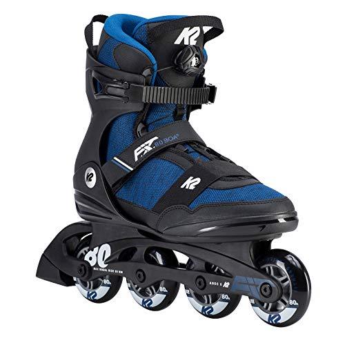 K2 Herren Inline Skates F.I.T. 80 BOA - Schwarz-Blau - EU: 42.5 (US: 9.5 - UK: 8.5) - 30D0773.1.1.095