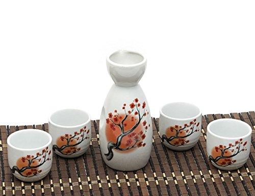 ankoow-service-a-sake-japonais-avec-quatre-tasses-en-porcelaine-de-carthame-peint-a-la-main-style-po