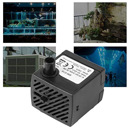 Acogedor Tauchwasserpumpe,Mini Ultra-leise tauchende Wasserpumpe Mini Motorpumpe, für Aquarien, Springbrunnen, Auslauf, Fischbecken usw,Sicher, energiesparend und langlebig(EU)