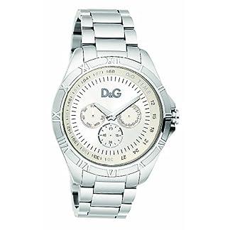 D&G Dolce&Gabbana DW0651 – Reloj analógico de caballero de cuarzo con correa plateada