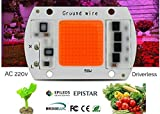 a2zteco 50W Full Spectrum LED Chip (Driver less) direct AC-220V Grow Light 380~840nm - Pack of 2 Pieces