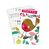 "Caroline Gardner Small ""Merry Christmas Robin"" Christmas Card with Envelope"