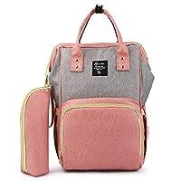 LOUYT New Large Capacity Maternity Backpack Women Travel Diaper Bag With Usb Fashion Waterproof Nappy Nursing Bag Kits Mummy Baby Care Orange