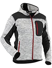 """Blåkläder Workwear Strickjacke """"4930"""" mit Softshell, 1 Stück, L, grau / schwarz, 67-49302117-9099-L"""