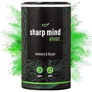 AHEAD Sharp Mind | Nootropic Brain Booster for Memory and Focus | with Alpha GPC, Huperzine A, Brahmi, L-Theanine | NO Caffeine | 90 Vegan Capsules