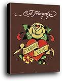 Ed Hardy Mini-Poster als Blockbild - Eternal Love (50 x 40cm)