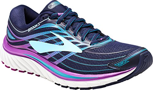 Brooks GLYCERIN 15, Scarpe running donna, Pianta stretta, EveningBlue/PurpleCactusFlower/TealVictory, 37.5 EU