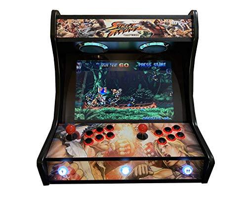 RoboticaEnCasa Arcade BARTOP VIDEOCONSOLA Retro máquina recreativa -Tamaño Real- Diseño- Street Figther