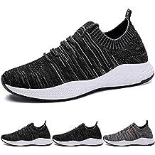 BIGU Zapatillas de Deporte EN Montaña y Asfalto Aire Libre y Deportes Zapatos Para Correr Padel Para Hombre Zapatos Deportivos de Los Planos Atléticas Ocasionales de La Malla Respirable Sport
