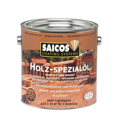Saicos 0113 500 Holzspezialöl bangkirai 2.5 Liter