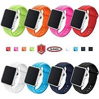 FunBand Armband Sport Strap für Apple Watch,Monochrom Weiches Silikon Ersatz Armband Gemütlich Einstellbar mit Belüftungslöcher Armband für Apple Watch Serie 4,Serie 3,Serie 2,Serie 1
