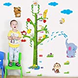 ALLDOLWEGE Kinder Cartoon Höhe Aufkleber Baby Wallpaper Aufkleber Abnehmbare Wandaufkleber Kinderzimmer Wohnzimmer Dekoration 140 * 110 cm.
